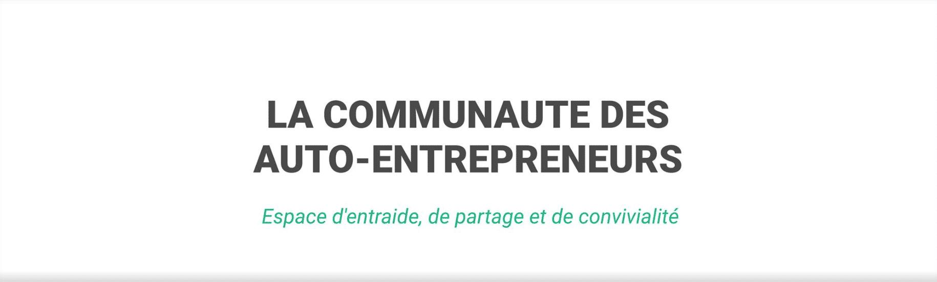 La communauté des auto-entrepreneurs