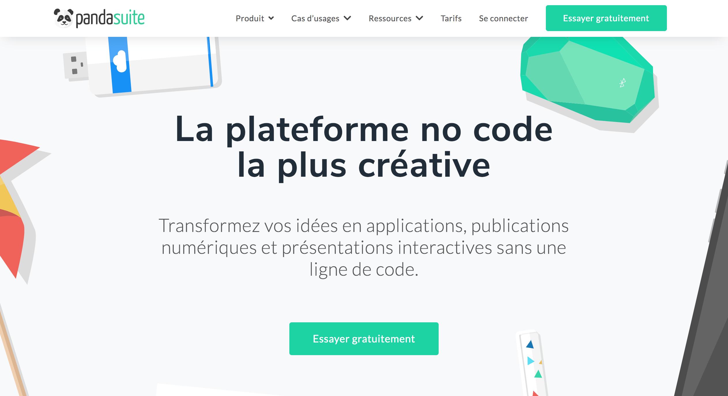 Panda suite no code platform
