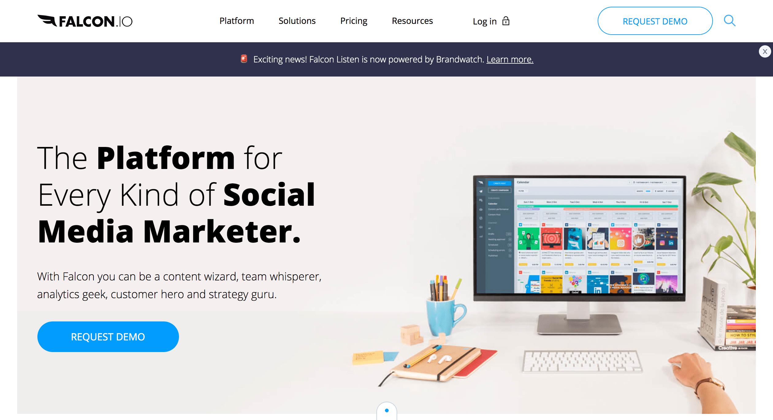 Falcon social media marketing