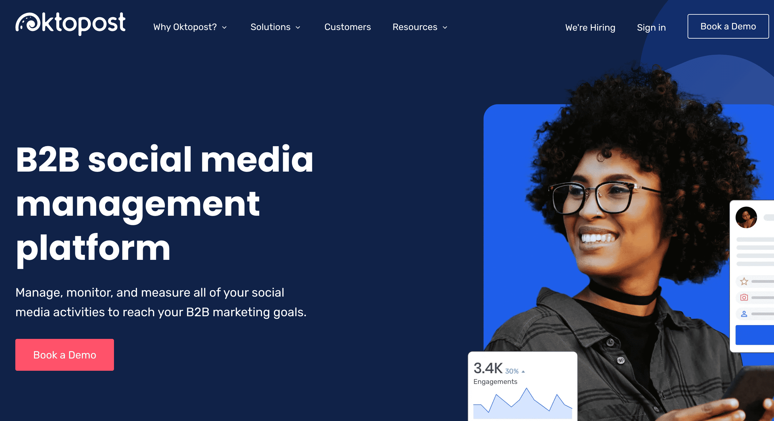 Oktopost B2B social media managment platform