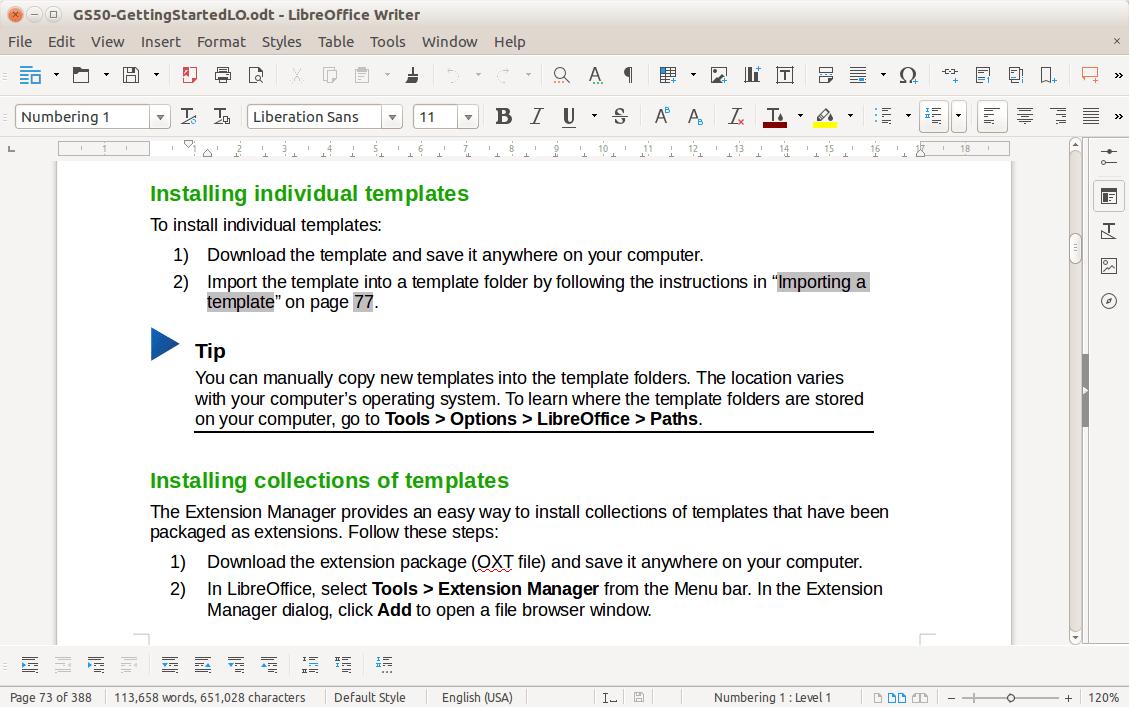 Traitement de texte LibreOffice