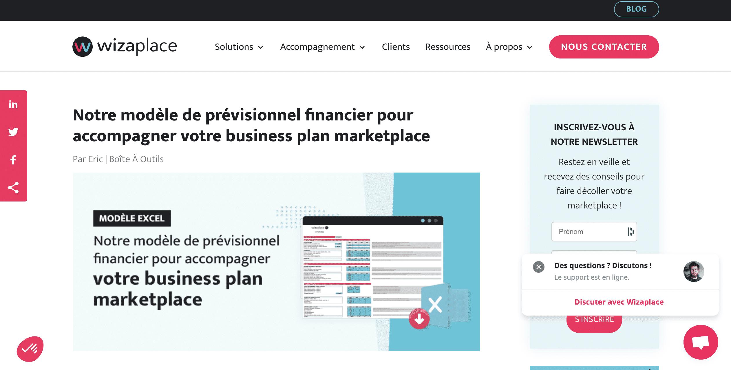 Wizaplace business plan gratuit