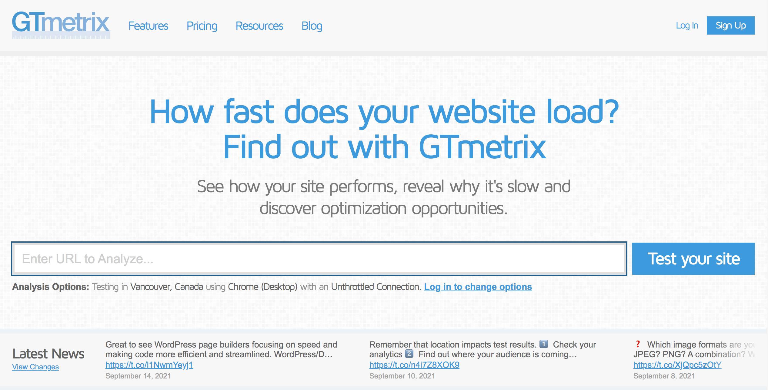 GT Metrix outil SEO