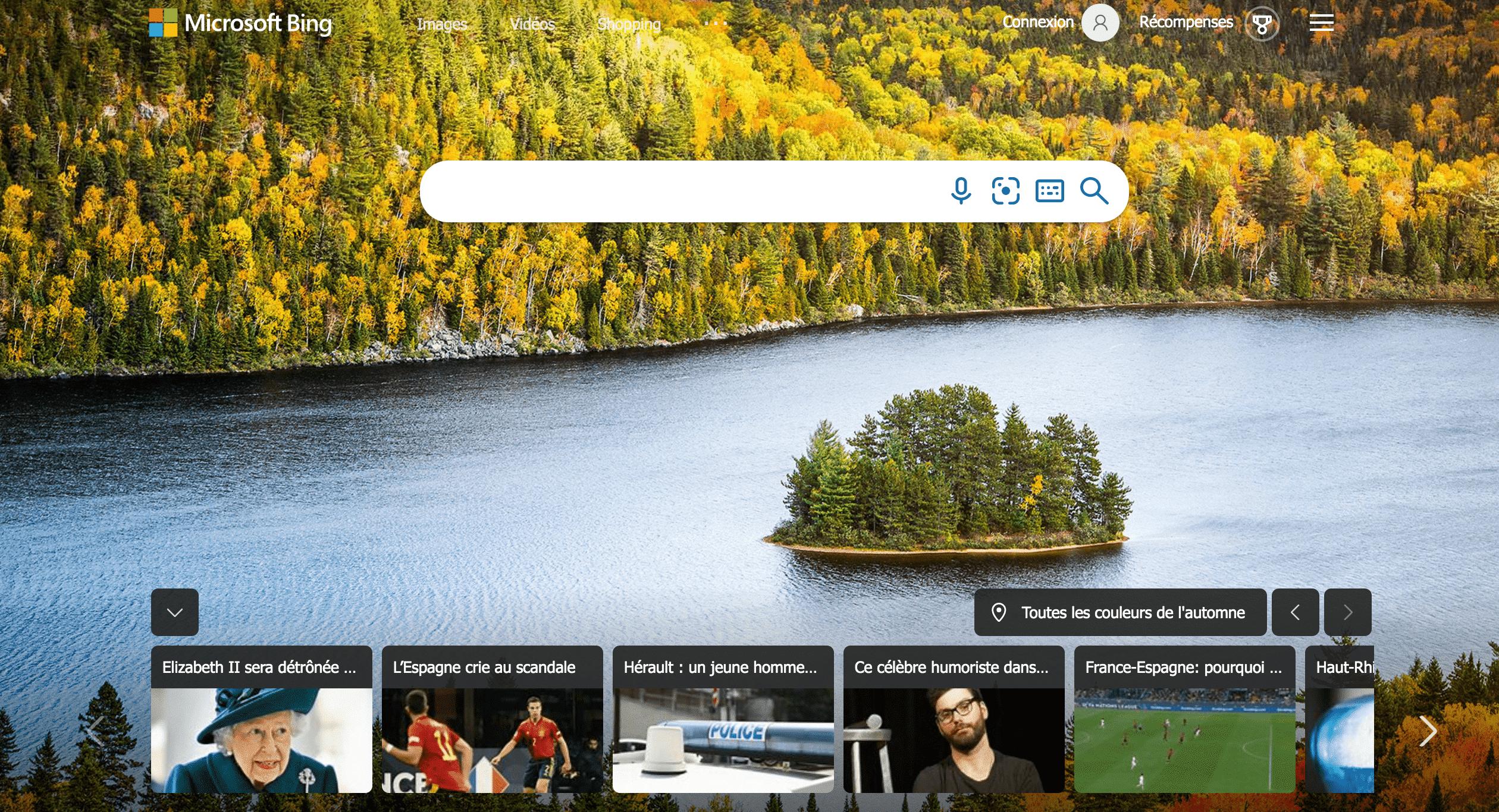 Bing moteur de recherche américain