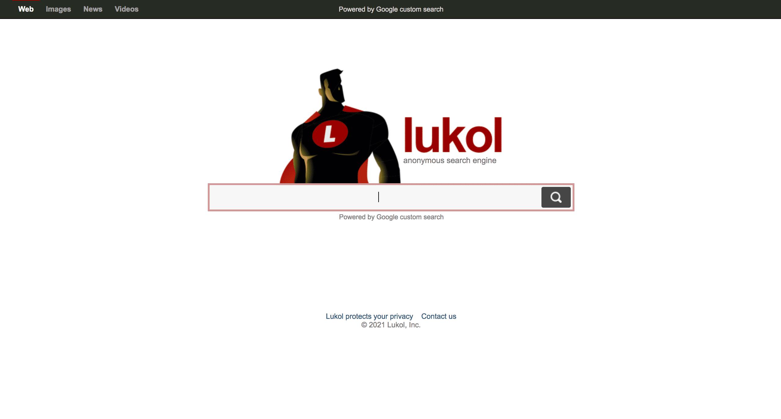 Lukol moteur de recherche anonyme