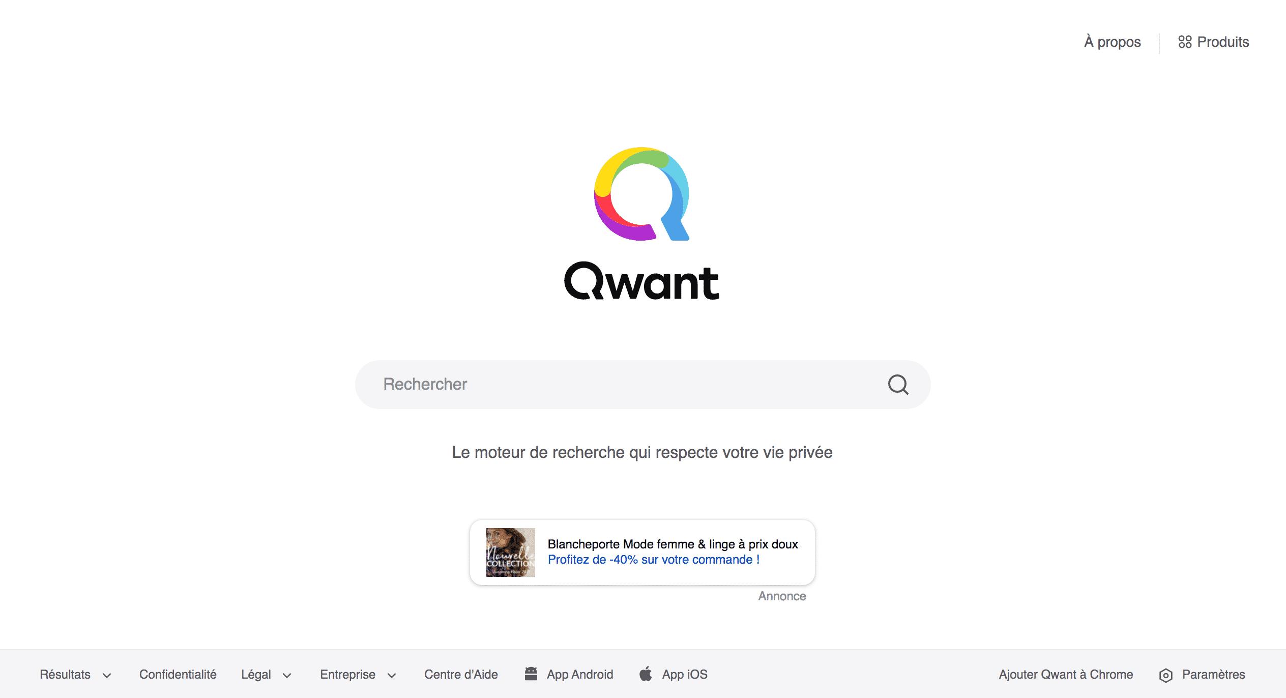 Qwant moteur de recherche