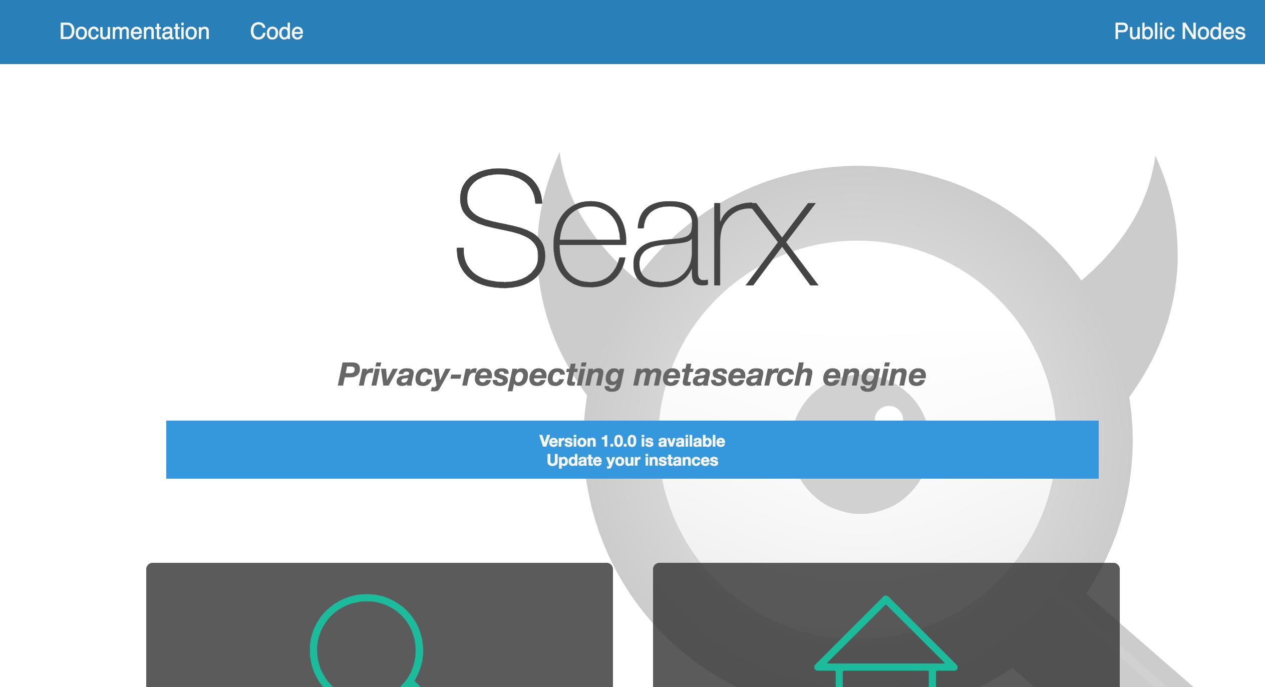 SearX metamoteur de recherche