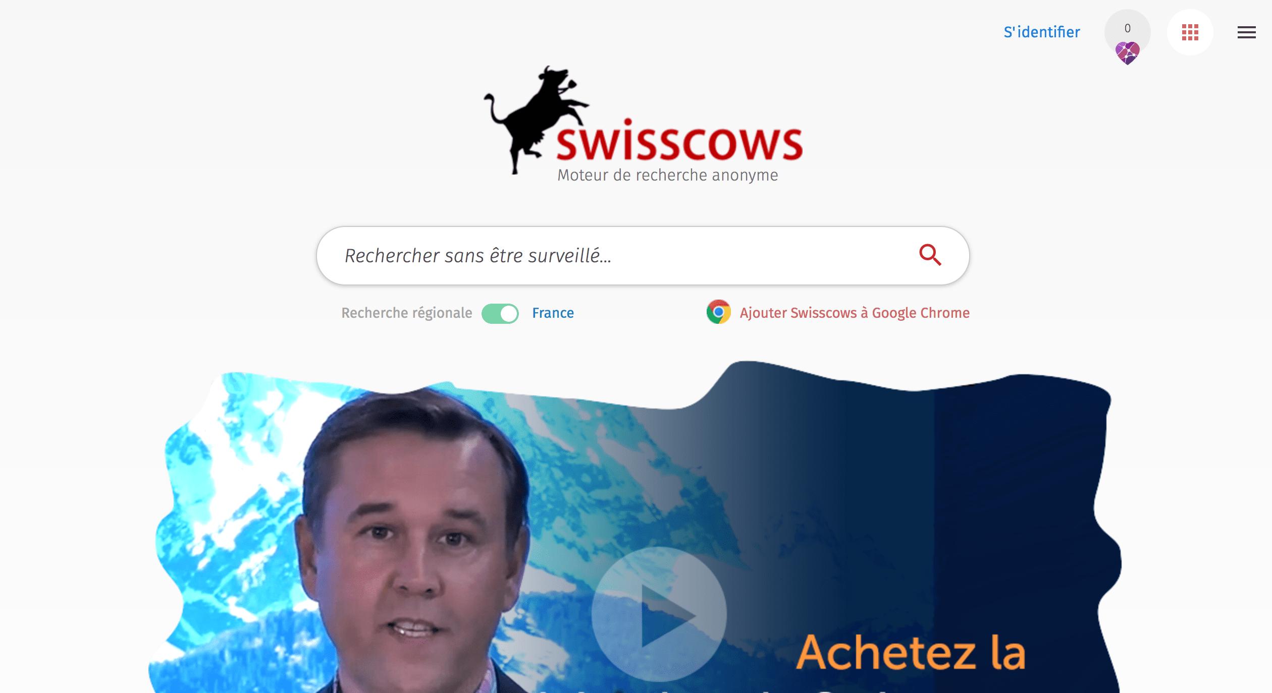 Swisscows moteur de recherche